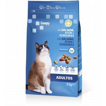 Compy Adults Cats with Salmon, Tuna and Vegetables