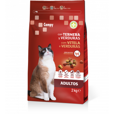 Compy Adults Cats with Beef and Vegetables