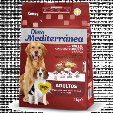 Alimento completo para perros adultos de razas medianas y grandes. Con Pollo, Cordero, Verduras y Arroz